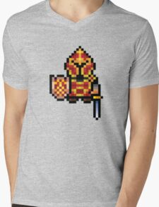 Pixel Warrior Mens V-Neck T-Shirt