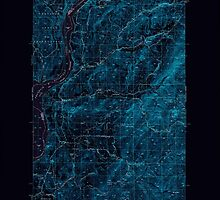 USGS Topo Map Washington State WA Hunters 241619 1950 62500 Inverted by wetdryvac