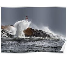 Stormy Surf at Cape Forchu Poster