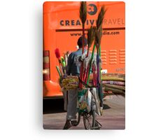 Broom & Brush Man Canvas Print