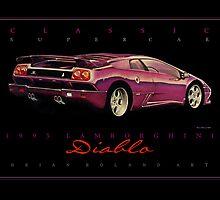 1995 Lamborghini Diablo ver 2 by brianrolandart