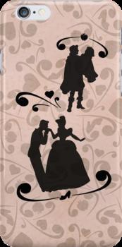 Prince Charming/Cinderella and Prince/Snow White by joshda88