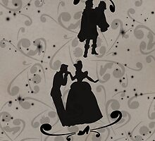 Prince Charming/Cinderella and Prince/Snow White (Black) by joshda88
