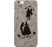 Prince Charming/Cinderella and Prince/Snow White (Black) iPhone Case/Skin