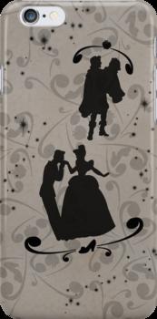 Prince Charming/Cinderella and Prince/Snow White (Black) by joshda88