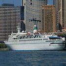 Maxim Gorkiy - Sydney Harbour, Australia. by Liz Worth