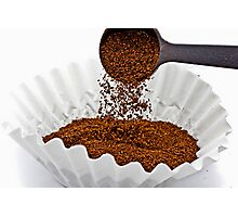 Pouring ground coffee Photographic Print