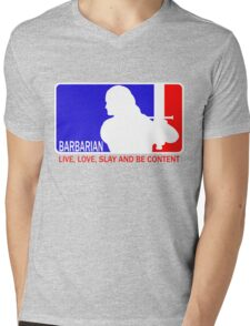 Barbarian League Mens V-Neck T-Shirt