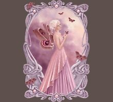 Pearl Birthstone Fairy Womens Fitted T-Shirt