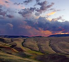 Sunset over Red Canyon, Wyoming by Harry Oldmeadow