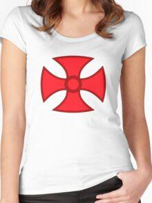 Heman's Emblem  Women's Fitted Scoop T-Shirt