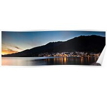 Queenstown Sunset Serenade Poster