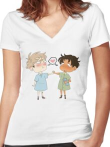 JeanMarco Babies Women's Fitted V-Neck T-Shirt