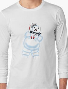 Scared Mr. Stay Puft. Long Sleeve T-Shirt