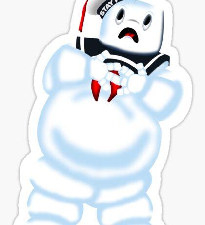 Scared Mr. Stay Puft. Sticker