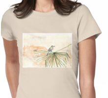 The Cape Wagtail thinks it's Spring! Womens Fitted T-Shirt