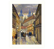 Prague Old Street Stupartska Art Print