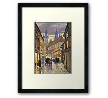 Prague Old Street Stupartska Framed Print