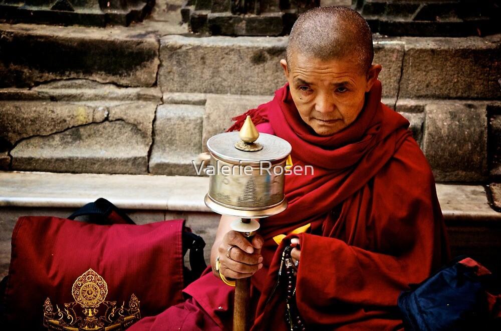 Tibetan Buddhist Nun by Valerie Rosen