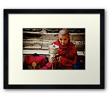 Tibetan Buddhist Nun Framed Print