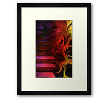 stairs are melting as I walk up them Framed Print