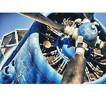 Blue Plane (Antonov 2) Photographic Print