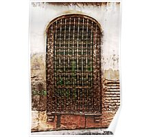 Wrought iron fence Poster