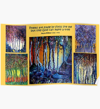 Waterpaint tree collage Poster