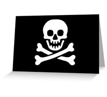 Pirate Flag Greeting Card
