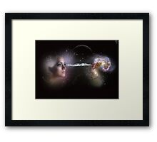 Two worlds. Framed Print