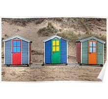 Beach Huts at Saunton Sands Poster