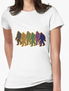 Multi-Colored Squatch Womens Fitted T-Shirt