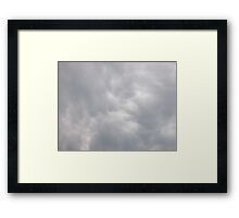 Beautiful fluffy clouds Framed Print