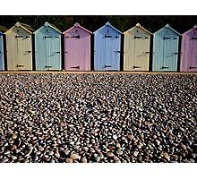 Colourful beach huts Photographic Print