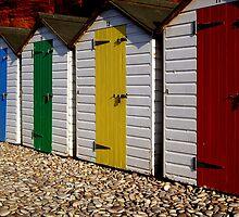 Wooden beach huts by nick pautrat