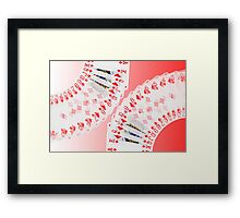 Playing Cards all the Diamonds Framed Print