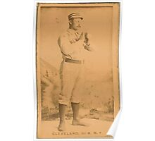 Benjamin K Edwards Collection Elmer Cleveland New York Giants baseball card portrait Poster