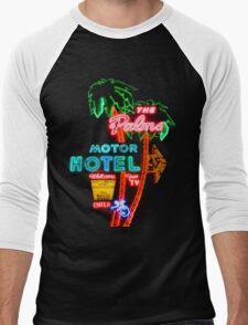 Palms Hotel Motel Neon Sign Retro Men's Baseball ¾ T-Shirt