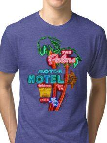 Palms Hotel Motel Neon Sign Retro Tri-blend T-Shirt