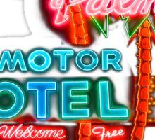 Palms Hotel Motel Neon Sign Retro Sticker