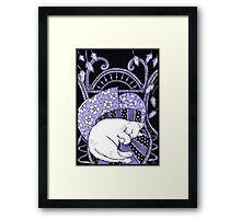 Sleeping Softly (In Blue) Framed Print