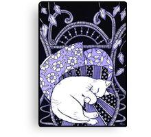 Sleeping Softly (In Blue) Canvas Print