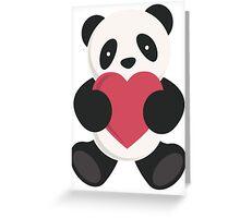 cute loving panda  Greeting Card