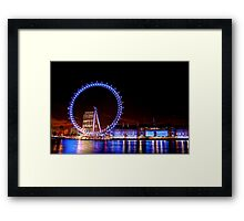 The London Eye at Night Framed Print
