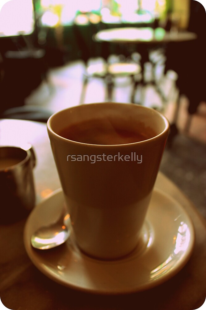 Coffee At a Cafe by rsangsterkelly