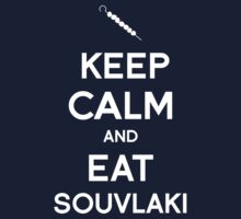 Keep Calm and Eat Souvlaki One Piece - Short Sleeve