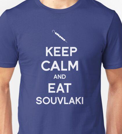 Keep Calm and Eat Souvlaki Unisex T-Shirt