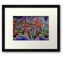Graffiti in Ibiza Town Framed Print