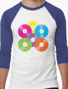 100% Electronic Music (black) Men's Baseball ¾ T-Shirt