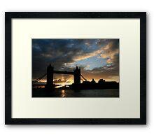 Tower Bridge Silhouette Framed Print